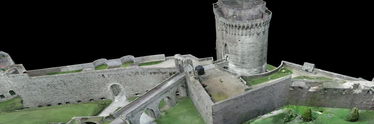 Modèle 3D chateau de Dinan