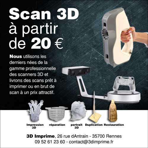 3d imprime, numérisation
