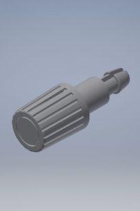 Bouton de réglage du potentiomètre d'un oscilloscope.