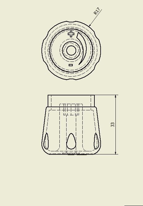 Molette pour radiateur.