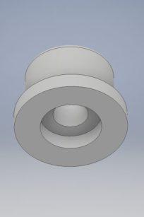 Roulette de remplacement pour banc de musculation Decathlon.