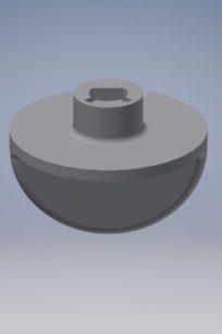 Bouton de thermostat chauffe-eau